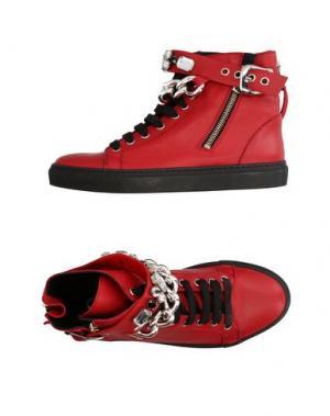 Высокие кеды и кроссовки OM. Цвет: красный