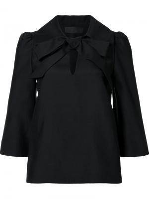Блузка с бантом Co. Цвет: чёрный