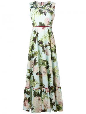 Платье с цветочным узором Antonio Marras. Цвет: зелёный