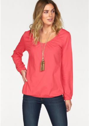 Кофточка с длинными рукавами, 2 штуки Flashlights. Цвет: розовый+хаки, темно-серый меланжевый+коралловый
