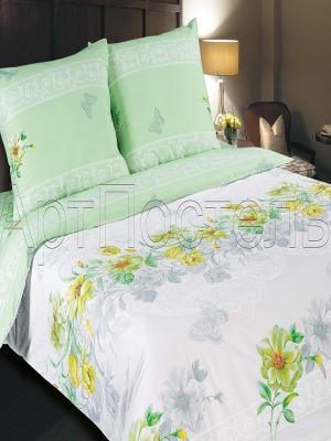 Постельное белье Арт Постель. Цвет: зеленый, желтый, белый