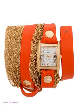 Часы La Mer Collections. Цвет: оранжевый, золотистый