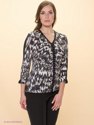 Блузка Betty Barclay. Цвет: черный, серо-коричневый