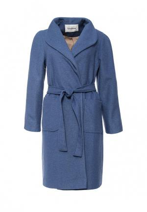 Пальто Tutto Bene. Цвет: голубой