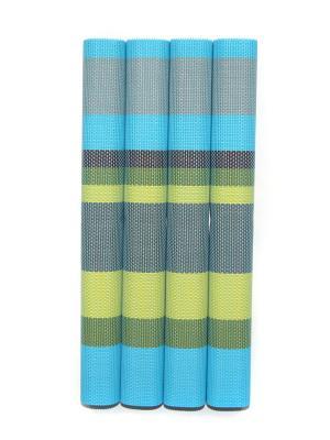 Плейсматы, 4 шт DiMi. Цвет: голубой, зеленый, серый