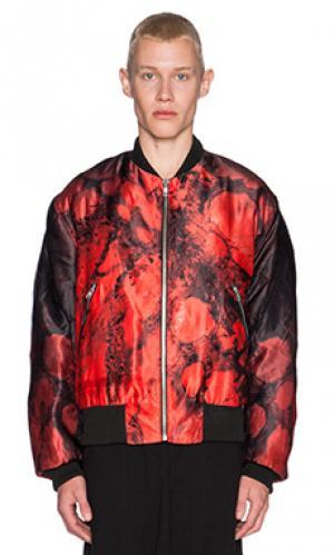 Куртка бомбер blood SKINGRAFT. Цвет: красный