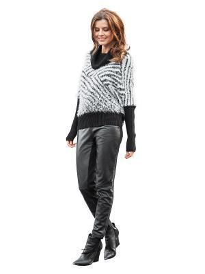 Пуловер APART. Цвет: черный, белый