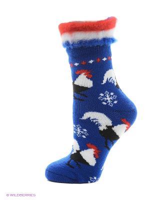 Новогодние носки HOSIERY. Цвет: голубой