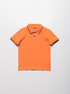 Футболка-поло SELA. Цвет: оранжевый