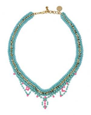 Ожерелье VENESSA ARIZAGA. Цвет: небесно-голубой
