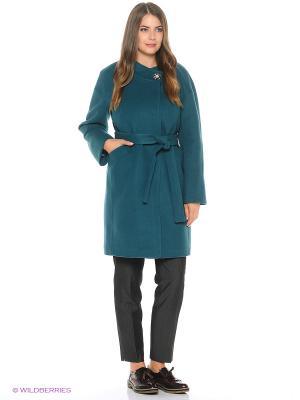 Пальто FORTUNA. Цвет: зеленый