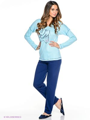 Пижама Vienetta Secret. Цвет: голубой, синий