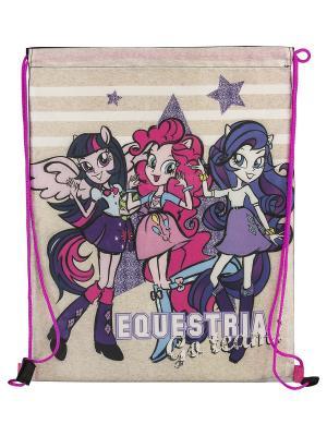 Мешок для обуви.Equestria Girls Equestria. Цвет: розовый, фиолетовый