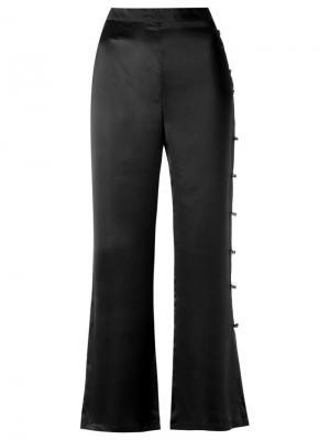Расклешенные брюки Adriana Degreas. Цвет: чёрный