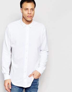 ADPT Рубашка классического кроя из ткани пике. Цвет: белый