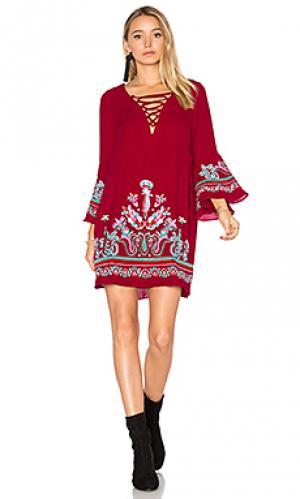 Платье kalonice VAVA by Joy Han. Цвет: красный