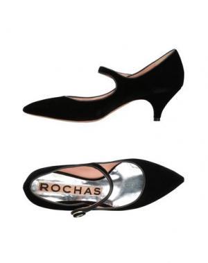 Туфли ROCHAS. Цвет: черный