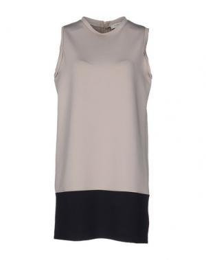 Короткое платье ALPHA STUDIO. Цвет: голубиный серый