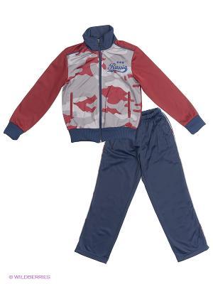 Спортивный костюм ADDIC. Цвет: темно-синий, бордовый