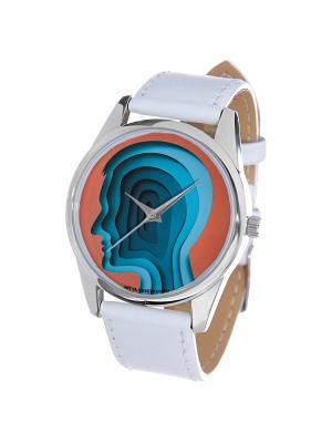 Часы Mitya Veselkov. Цвет: красный, синий