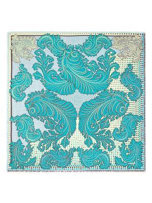 Платок Eleganzza. Цвет: бирюзовый, серо-голубой, темно-коричневый