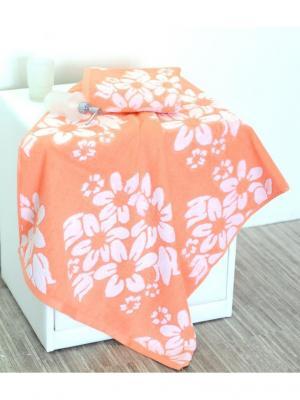 Набор махровых полотенец ФИОНЭ персиковый (50*90+70*140) TOALLA. Цвет: персиковый