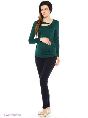 Джемпер для беременных FEST. Цвет: темно-зеленый