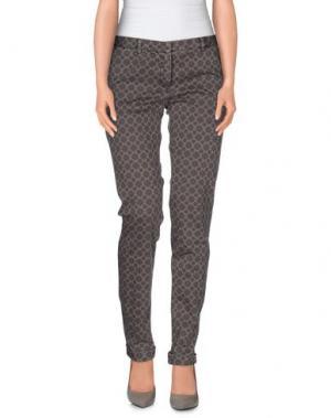 Повседневные брюки MONOCROM. Цвет: голубиный серый