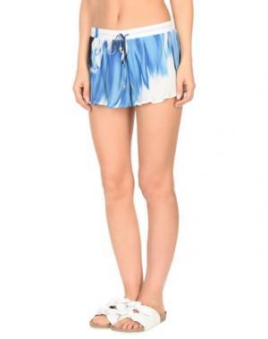 Пляжные брюки и шорты ROBERTO CAVALLI BEACHWEAR. Цвет: синий