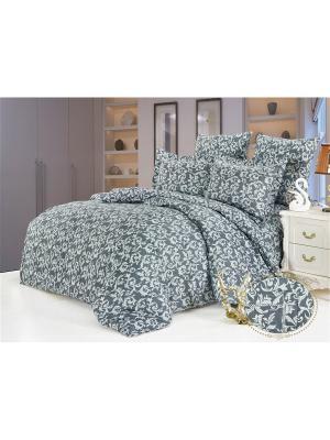 Комплект постельного белья, Сантина, 1,5 спальный KAZANOV.A.. Цвет: антрацитовый, серый