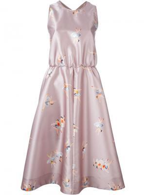Платье с поясом Rochas. Цвет: телесный