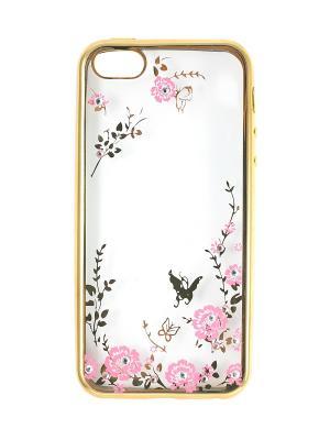 Чехол на iphone 5 JD.ZARZIS. Цвет: золотистый, розовый