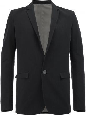 Пиджак с передними карманами клапанами Label Under Construction. Цвет: чёрный