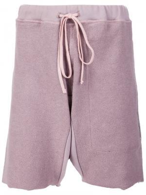 Шорты-бермуды Mr. Completely. Цвет: розовый и фиолетовый