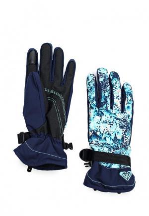 Перчатки горнолыжные Roxy. Цвет: бирюзовый