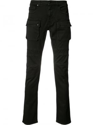 Джинсы с накладными карманами Belstaff. Цвет: чёрный