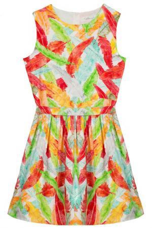 Платье Vitacci. Цвет: оранжевый
