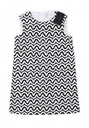 Платье Il Gufo. Цвет: черно-белый