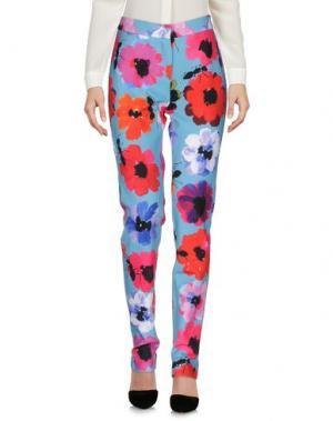 Повседневные брюки GIULIA ROSITANI. Цвет: лазурный