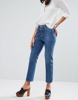 MiH Jeans Укороченные джинсы с классической талией M.i.h. Цвет: синий