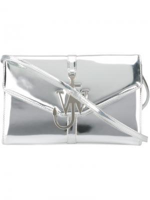 Сумка с логотипом J.W.Anderson. Цвет: металлический