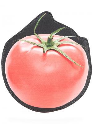 Кошелек в форме помидора Cityshop. Цвет: чёрный