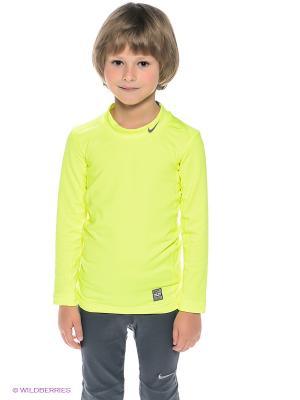 Термобелье-лонгслив HYPERWARM COMP MOCK YTH Nike. Цвет: салатовый