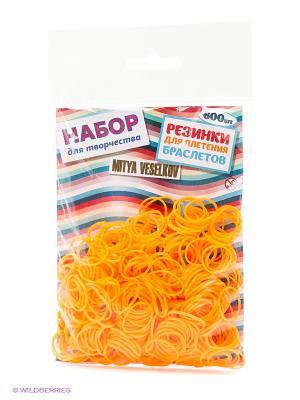 Резиночки для плетения браслетов Mitya Veselkov. Цвет: оранжевый