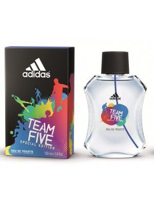 Team Five men edt 100 ml Adidas. Цвет: голубой, красный, черный