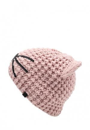 Шапка Karl Lagerfeld. Цвет: розовый