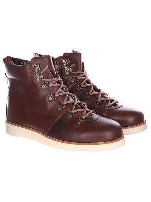 Ботинки зимние Rheinberger. Цвет: коричневый