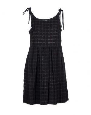 Короткое платье KAREN WALKER. Цвет: грифельно-синий
