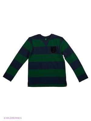 Лонгслив United Colors of Benetton. Цвет: серо-голубой, серый