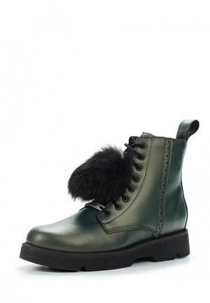 Ботинки Bartek. Цвет: зеленый